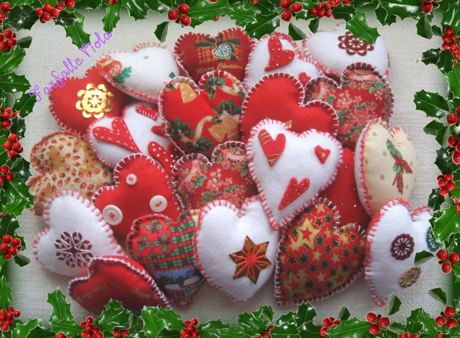 Decorazioni Per Lalbero Di Natale In Pannolenci Disegni Di Natale