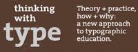 Capçalera thinking with type