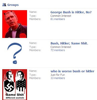 Facebook: Bush-Hitler