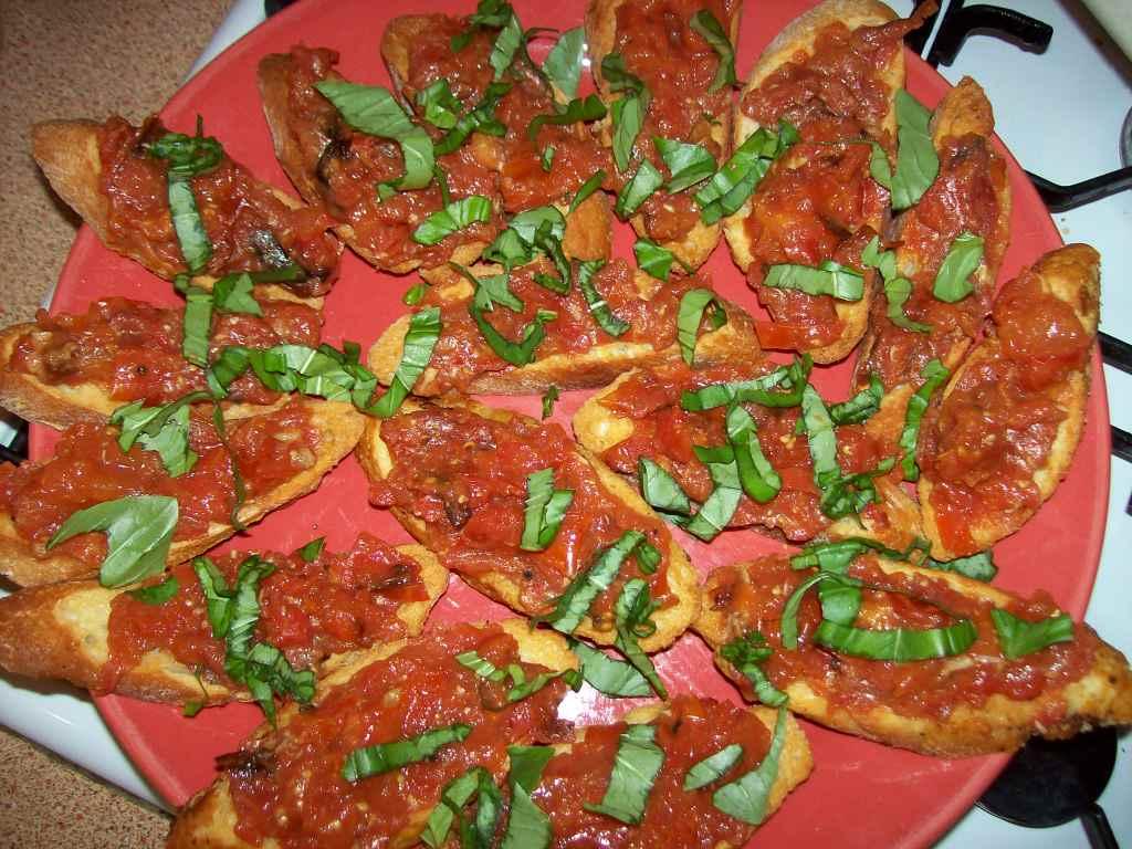 Lobster Bumkiss: Roasted Tomato & Garlic Bruschetta
