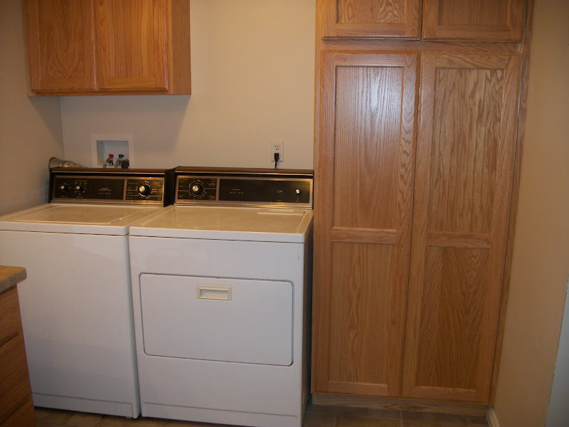 This combination bathroom and laundry room was finished in 2006. The  title=