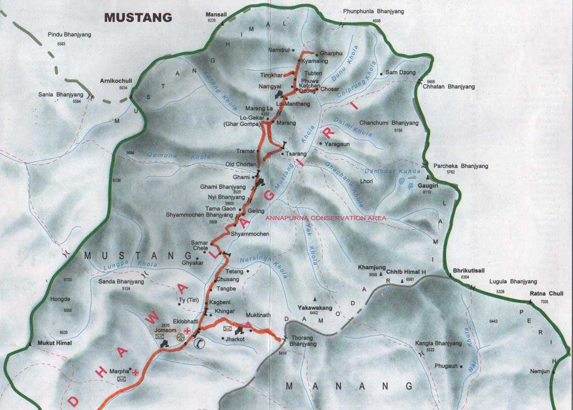 Last, a map of the Mustang