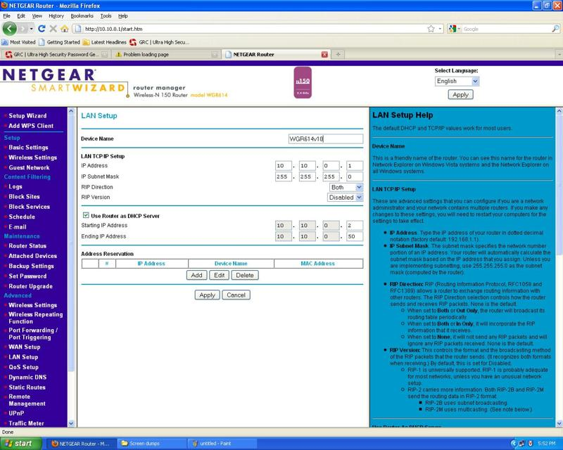 Socratess experience how to configure netgear wireless n150 model ip address 101001 subnet mask 2552552550 next two entries are left as it is select check box use router as dhcp server keyboard keysfo Choice Image
