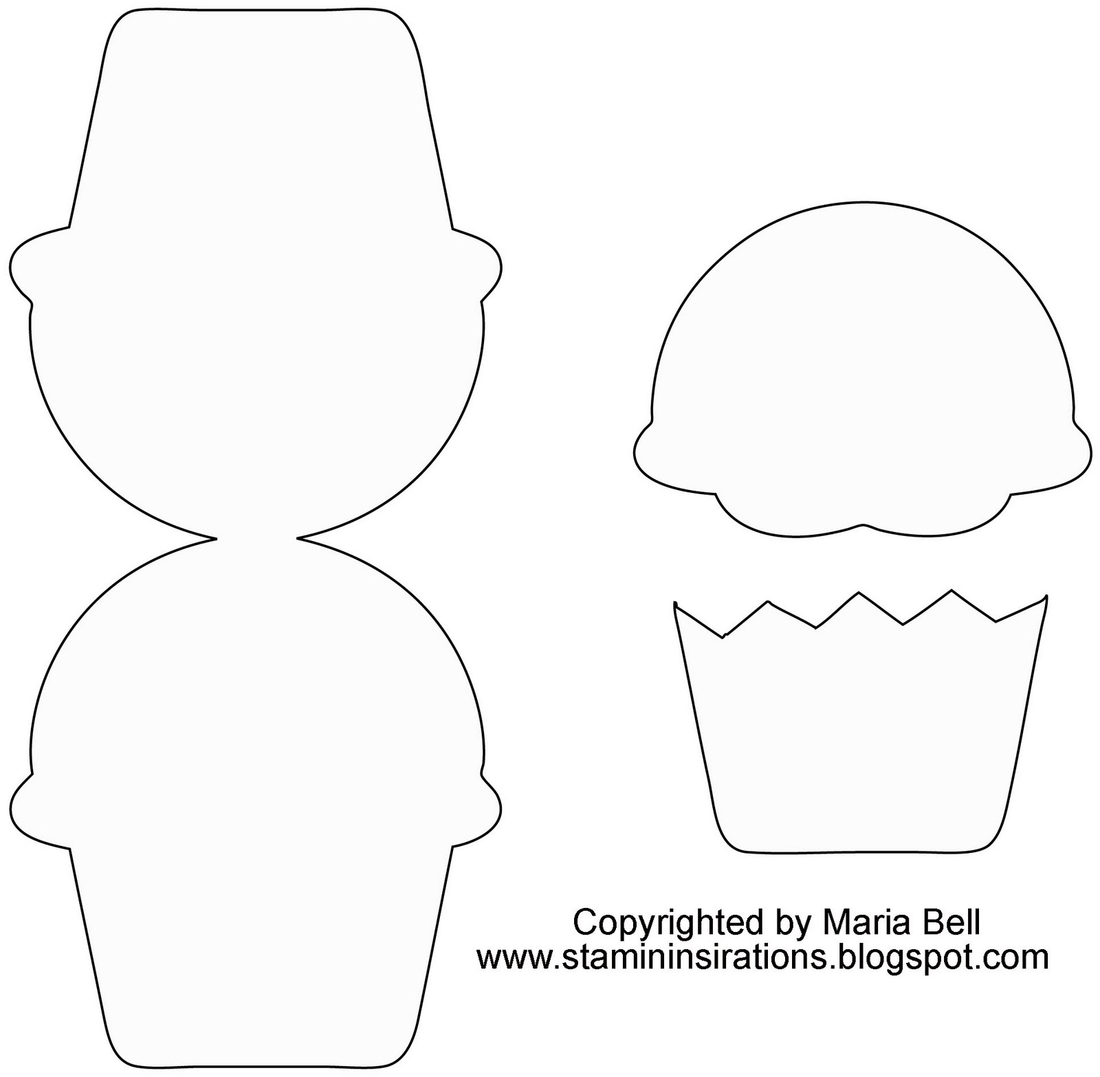 Cupcake Template Design : Inspired and Unscripted: Little C s New Relese CC Design ...