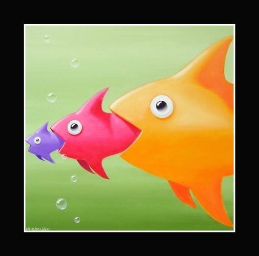 It 39 s a fish eats fish world the non blonde for Fish that eat other fish