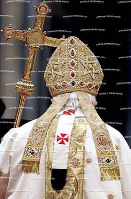 Catholicism Benedict+hexagram+miter_02