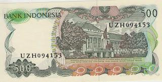 uang kuno, Indonesia,uang, koleksi,Rp, Uang Kuno,koin, mata uang, Seri,kertas, seri, Koleksi, Museum, harga, 500 Rupiah Bunga Bangkai