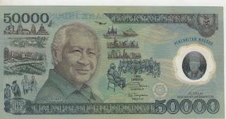 uang kuno, Indonesia,uang, koleksi,Rp, Uang Kuno,koin, mata uang, Seri,kertas, seri, Koleksi, Museum, harga,50.000  Rupiah Soeharto