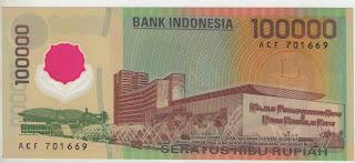 uang kuno, Indonesia,uang, koleksi,Rp, Uang Kuno,koin, mata uang, Seri,kertas, seri, Koleksi, Museum, harga,100.000 Rupiah Soekarno-Hatta