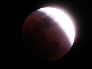 total lunar eclipse of the moon on the winter solstice