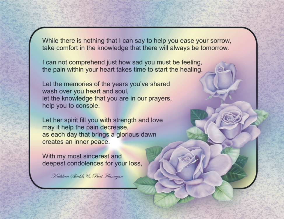 sample condolence message