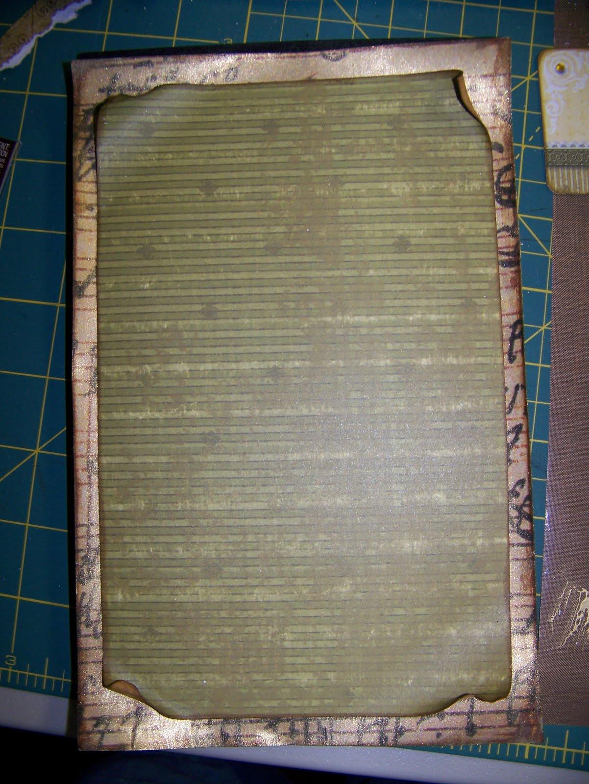 Scrapbook paper dollar general - Using A Foam Brush I Lightly Brushed On A Bit Of Sheer Gold Glaze Over My Patterned Paper