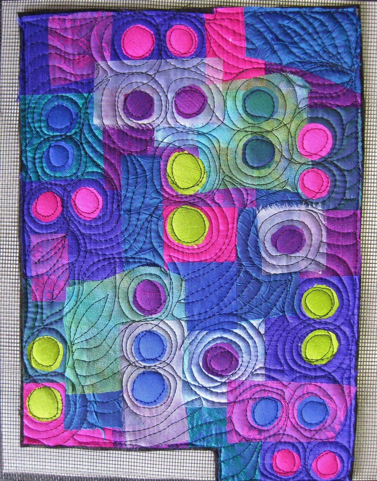 8x10 vibrant silk art quilts