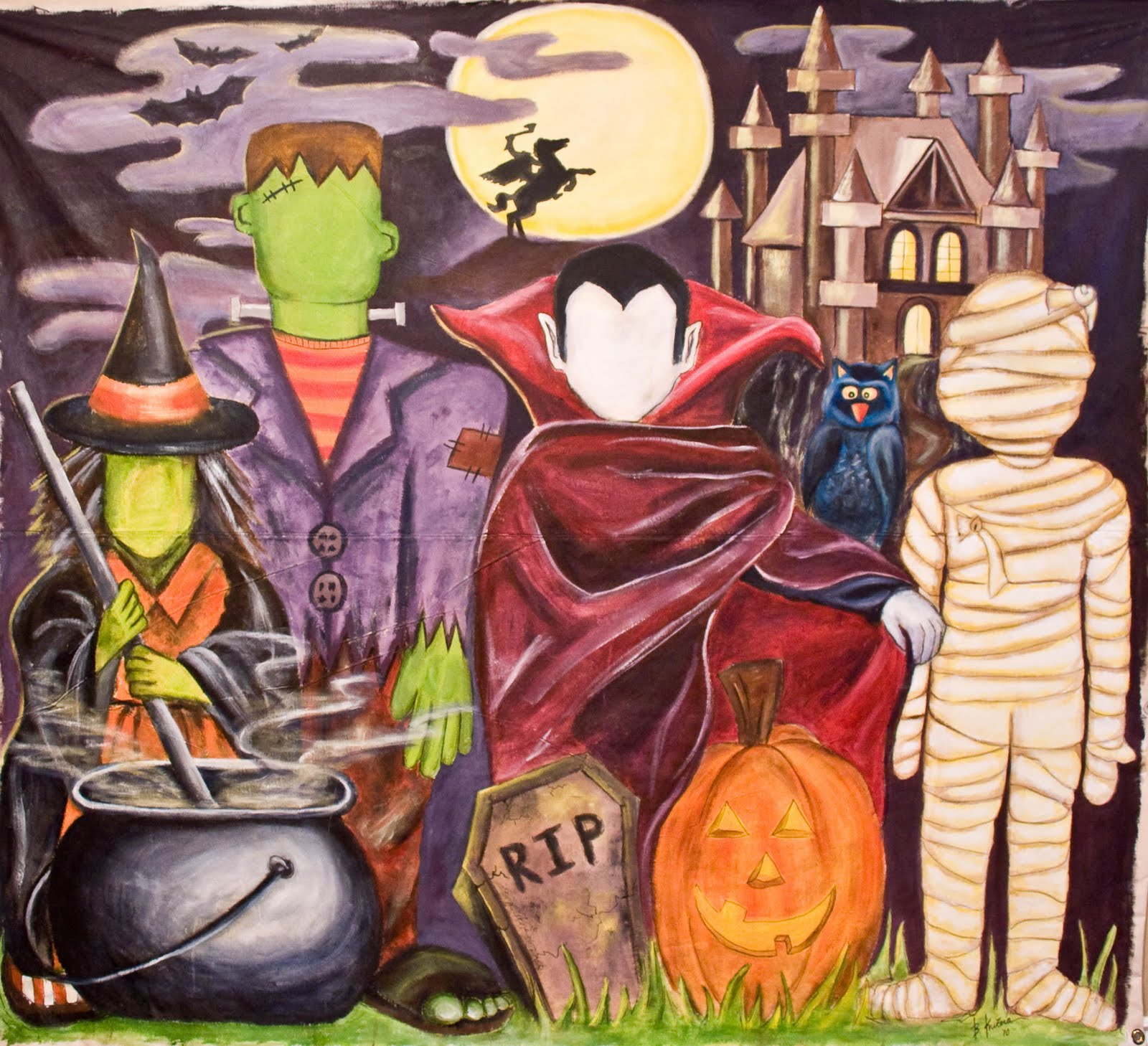 Art By Barbara Kucera Halloween Mural. Complex Lettering. Engagement Photo Murals. Gold Paper Stickers. Button Decals. Mudding Decals. Sandy Row Murals. 125 Year Logo. Free Printable Calendar Reminder Stickers