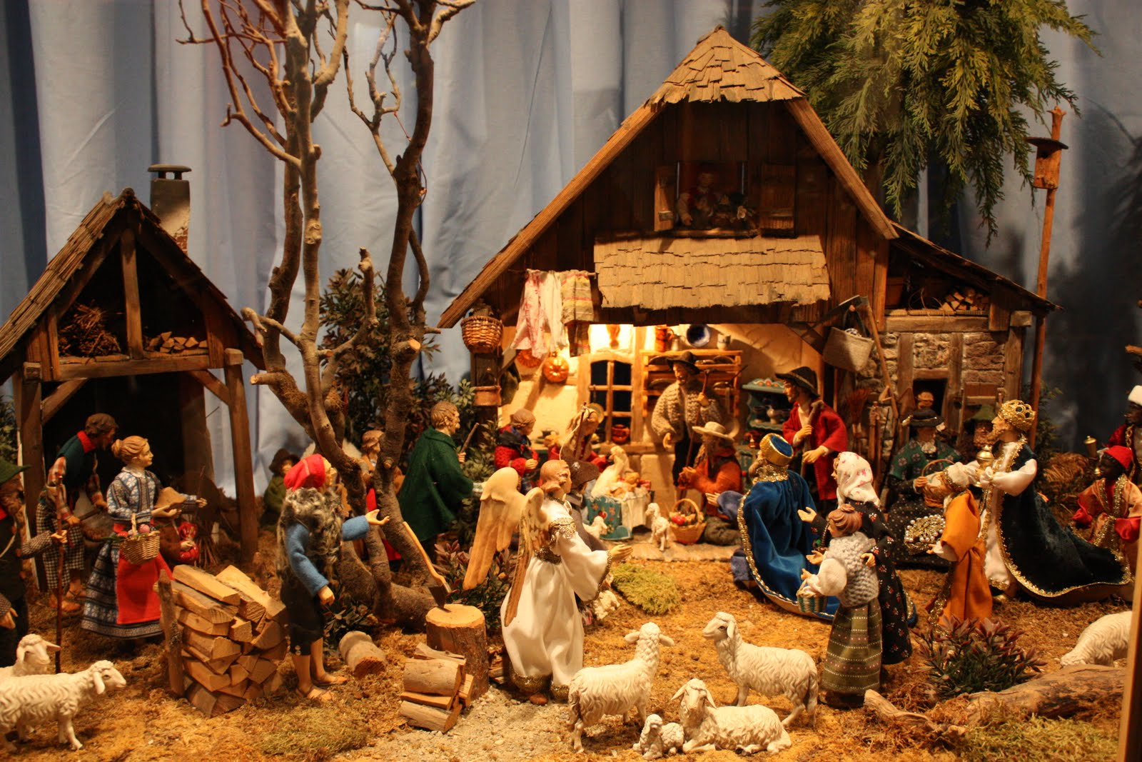 This nativity scene from the town of Oberammergau is set in the