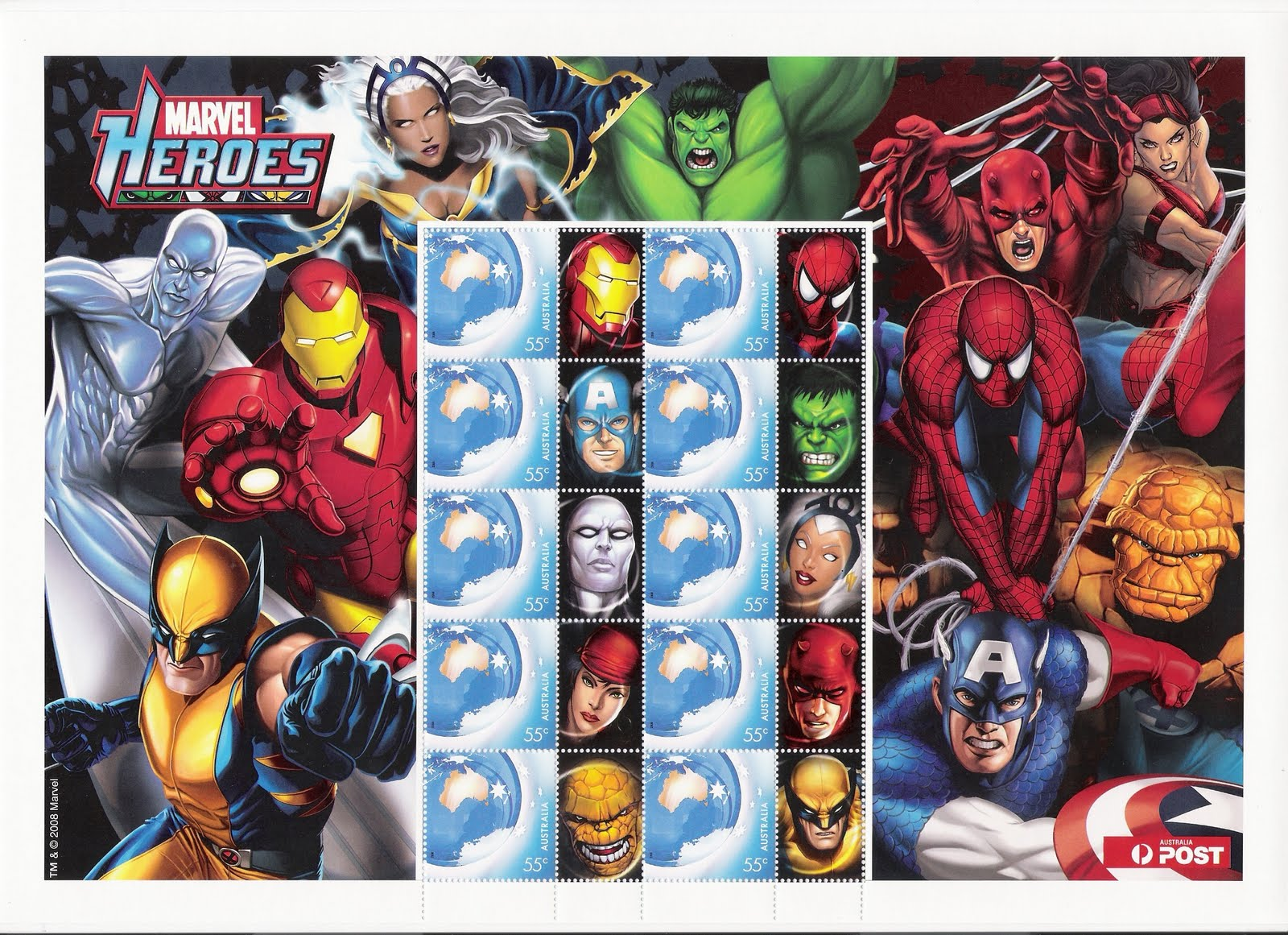 Marvel superheroes sts