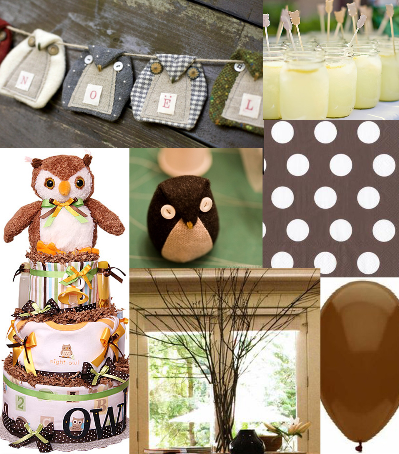 Baby shower food ideas baby girl shower ideas owl theme for Baby shower decoration sets