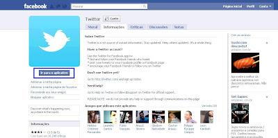 Agregando facebook ao twitter