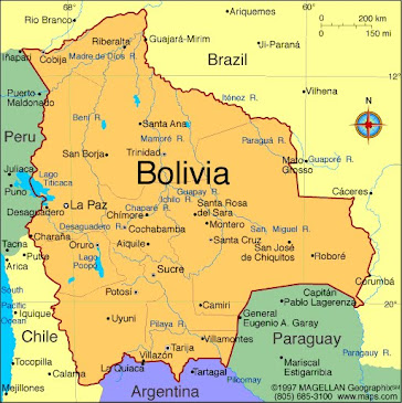 Map of Bolivia