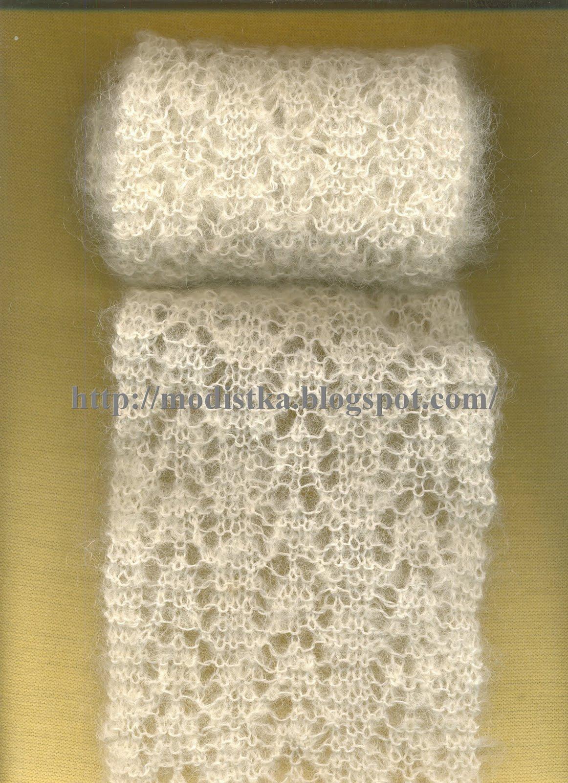 Шарф вязание из тонкой нити