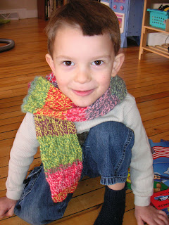 rainbow scarf