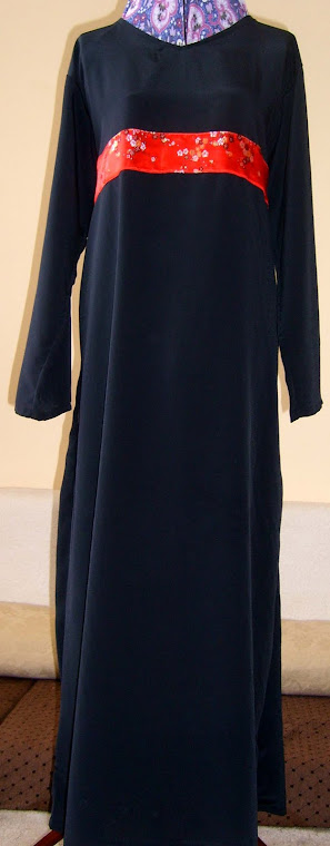 Chinese Silk Belt abaya