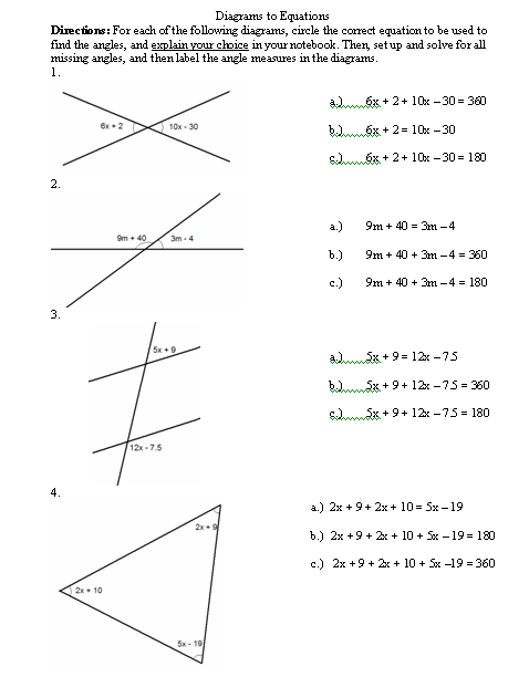 Printables Angle Relationships Worksheet i hope this old train breaks down all about angles down