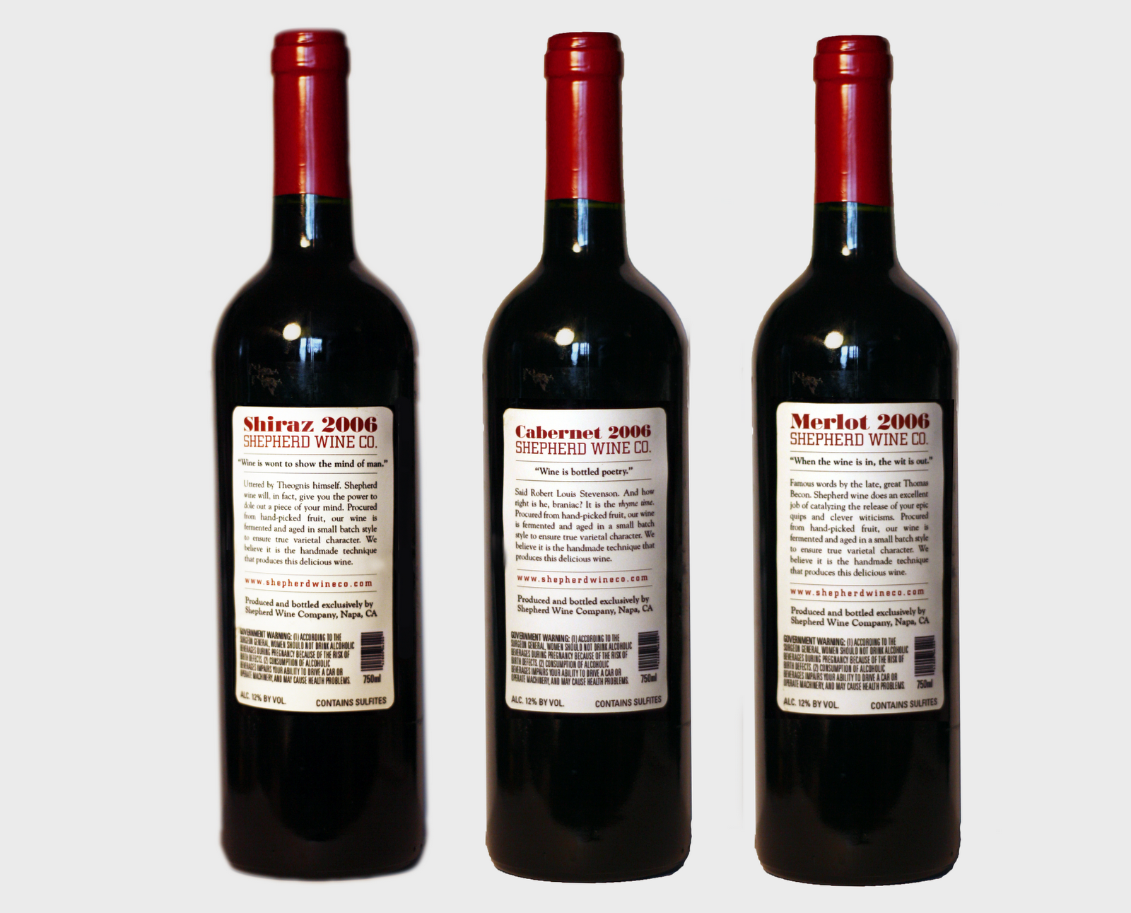 Polly Mimi: wine bottle quotations line