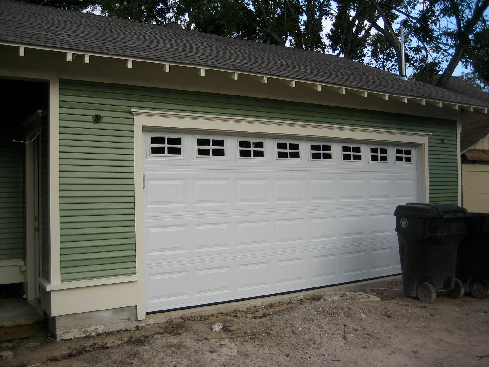 High Quality Today, The Accent Paint Was Completed Around All The Windows And The Garage  Door Was Added. The Garage Door Will Eventually Be The Same Color As The  Trim ...