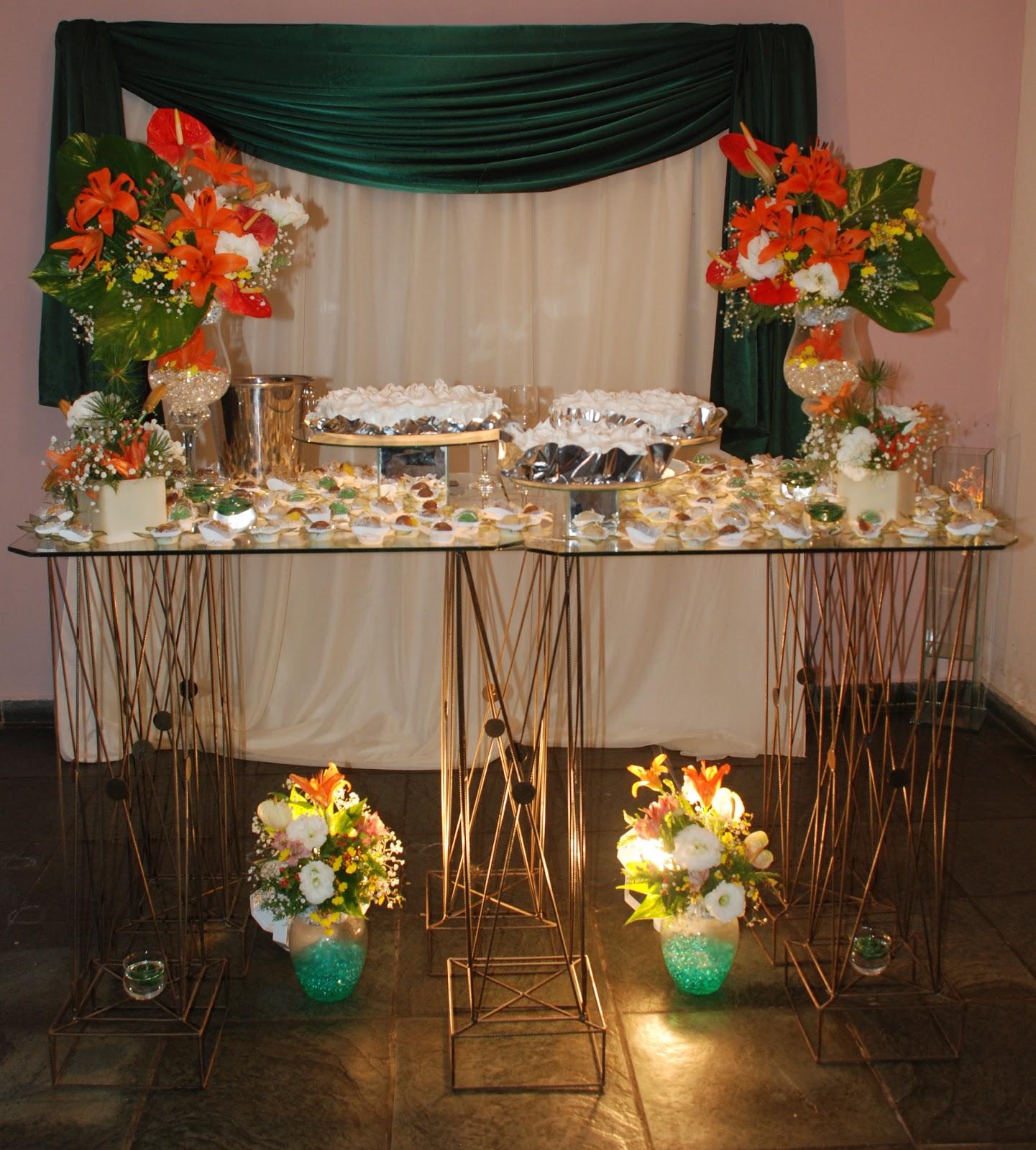 decoracao casamento mesa do bolo:Decoração ( Mesa de Vidro)