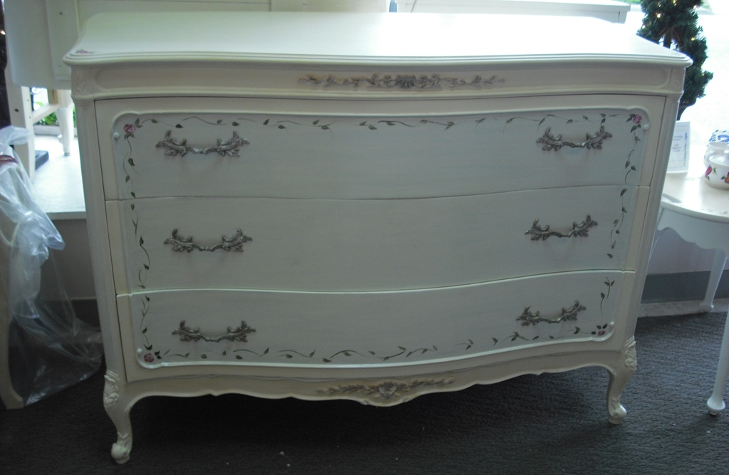 Hand Painted Antique French Provincial Dresser