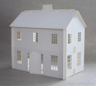 szedzki domek dla lalek, dolls house, pokój dla dziewczynki, ikea, tekturowy, z tektury
