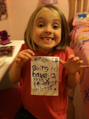 When Kaleigh found out she was going to be a Big Sister!