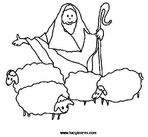 pages of sheep and lambs coloring pages