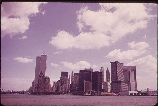 The U.S. National Archives - Manhattan Skyline from the Staten Island Ferry 05-1973