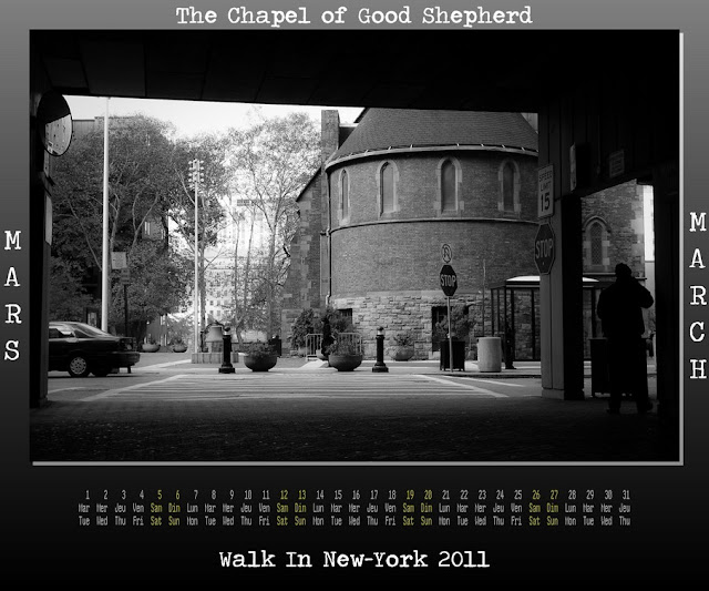 Calendar New York 2011 - 03 March 2011 - The Chapel of Good Shepherd