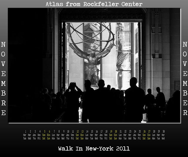 Calendar New York 2011 - 11 November 2011 - Atlas view St. Patrick Cathedral
