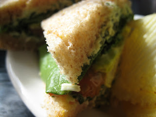 Artichoke and spinach sandwich from Beehive Tearoom, SLC.