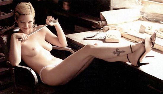 full video drew barrymore topless in front of the camera lens
