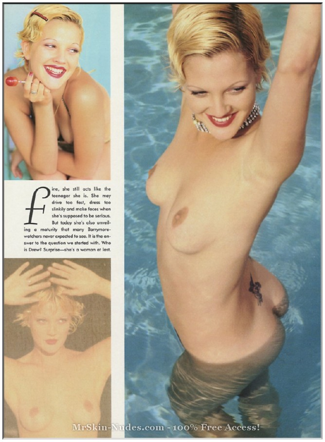 Drew Barrymore playboy pictures for you.