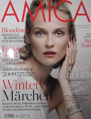 Cover girl… Diane kruger en Amica enero 09