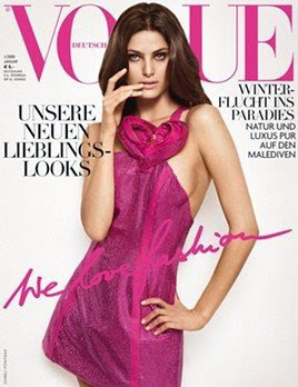 Cover girl… Isabelli Fontana Vogue Alemania Enero 09