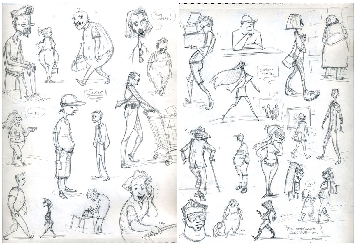 Fundamentals Of Character Design Class With David Colman : Random tracks of mindness some more people sketches
