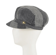 burberry wool check cap