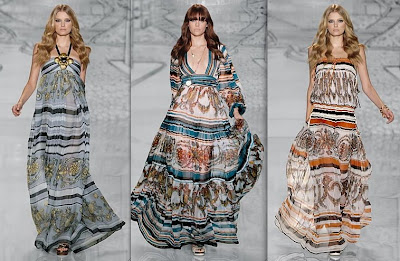 gucci long flowing dresses from the 2009 cruise collection