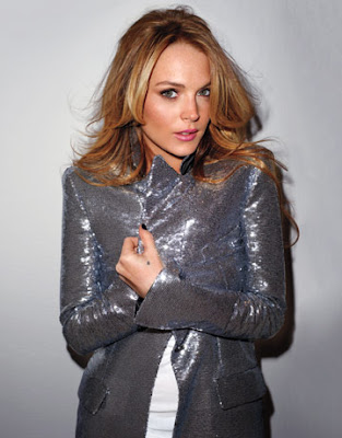lindsey lohan in chanel sequin jacket