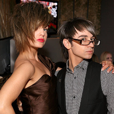 mena suvari and christian siriano at an oscar viewing party