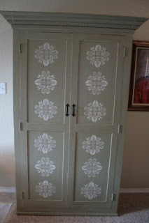 Original Lisa Jayne Lee Armoire Makeover Project Day 2