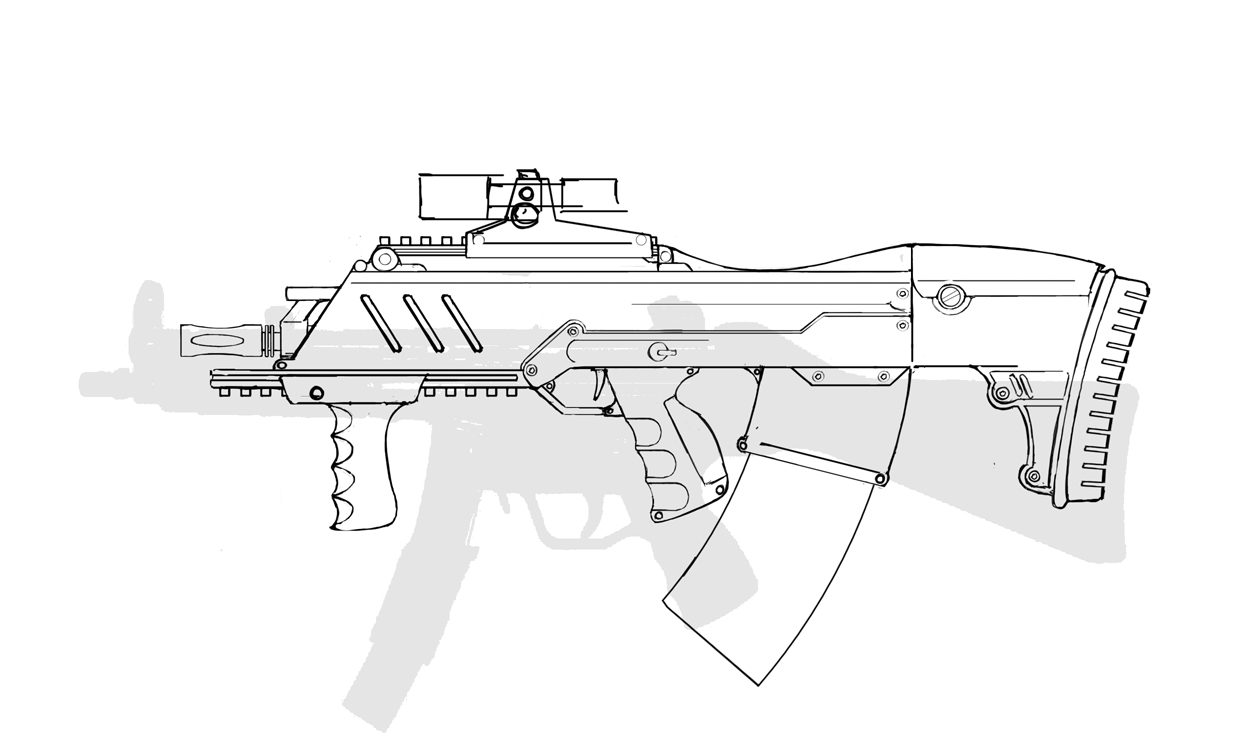 machine gun drawings - photo #13