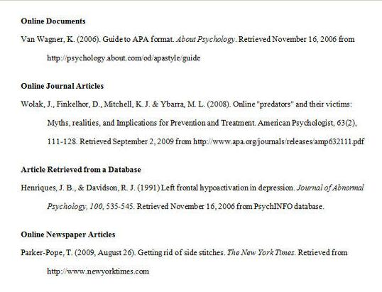 bibliography website example.